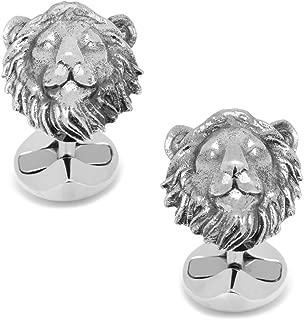 CUFFLINKS INC Sterling Lion Head Cufflinks (Silver)