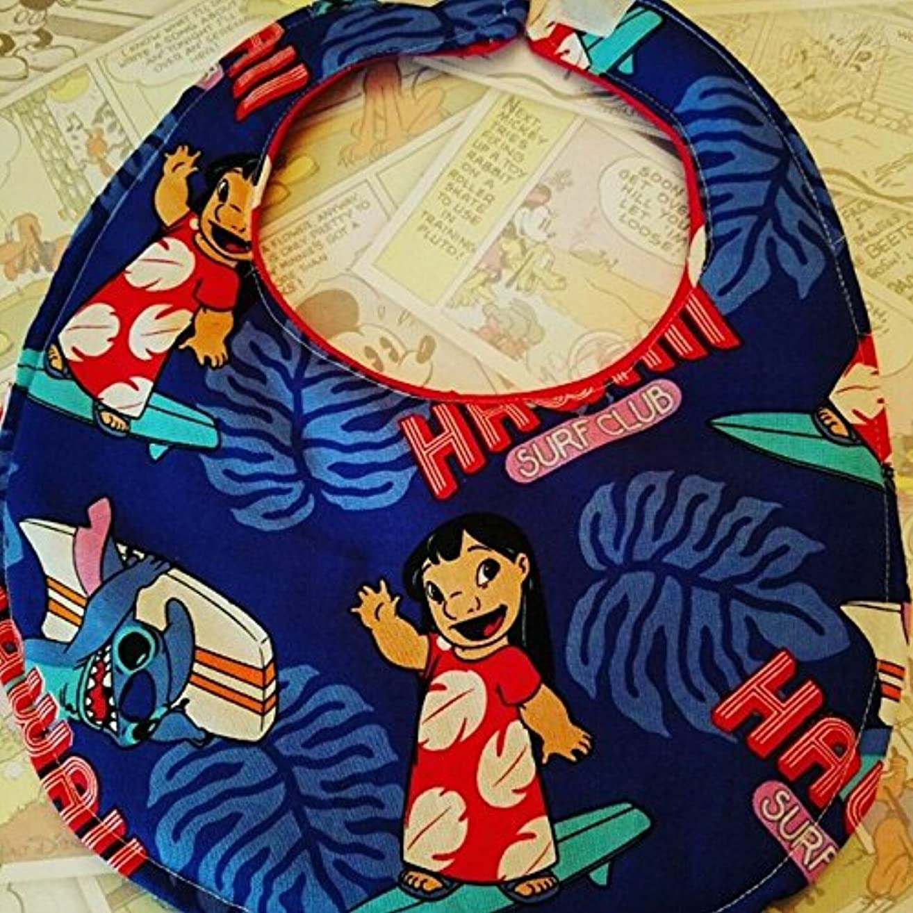 Disney Lilo and Stitch baby bib, disney cruise, hawaii, disneybound, baby bib, unisex bib