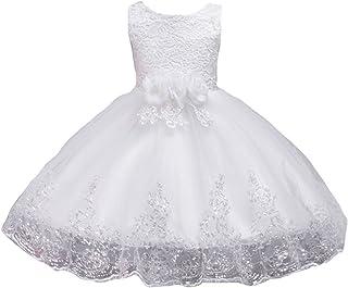 c49f0f9881cf9 LSERVER Enfant Fille Robe de Demoiselle d honneur Mariage Soirée Paillettés  Robe Cérémonie Filles Brodé