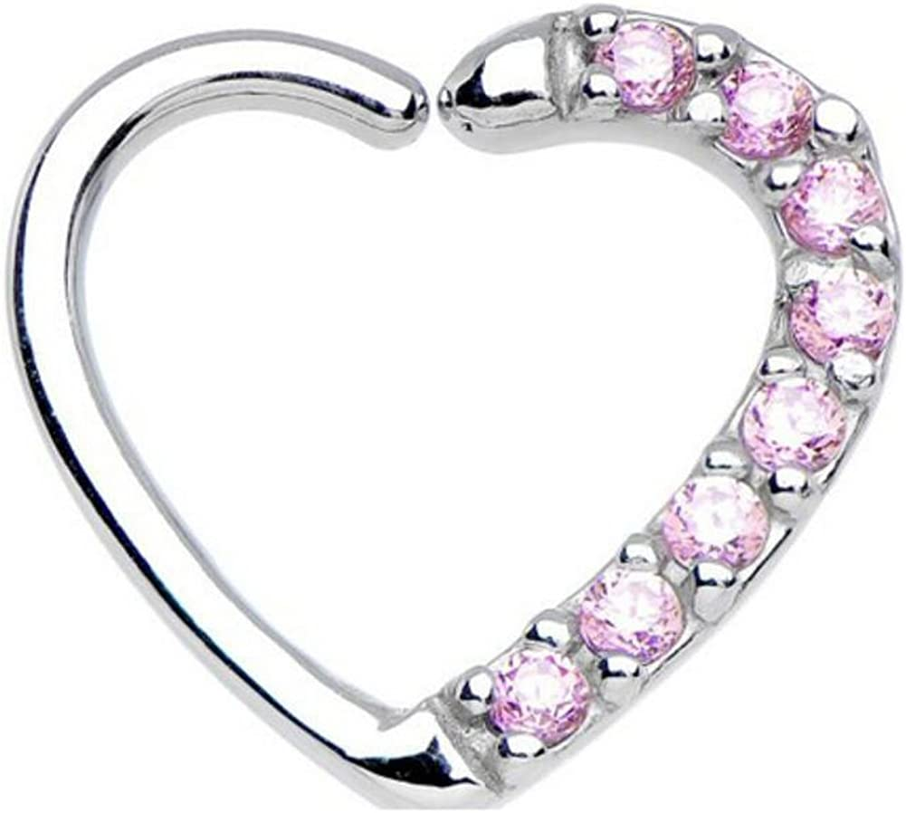 16 Gauge Cz Heart Sales of SALE items from new works Closure Daith Financial sales sale Nose Cartilage Septum Lip Tragus
