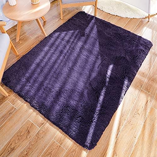 GaoTuo Alfombras Suaves de Terciopelo, alfombras Modernas y esponjosas, Lindas alfombras de Dormitorio peludas, adecuadas...