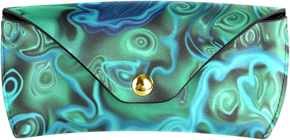 PU Leather Wallet Goggles Bag Sunglasses Case Eyeglasses Pouch Multiuse Portable Art Peacock Feather Colors Rose