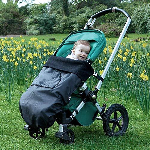 BundleBean - GO - Saco universal para cochecitos, sillas y portabebés - Impermeable - Negro