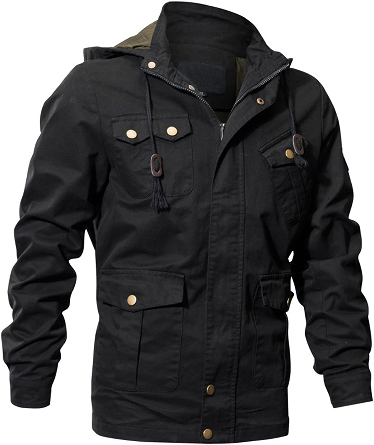 Lentta Men's Colorado Springs Mall Casual Multi Pockets Military Outdoor Cotton Zipper Sales results No. 1