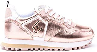 Luxury Fashion | Liu Jo Women BXX061P0291A7771 Pink Leather Sneakers | Spring-summer 20