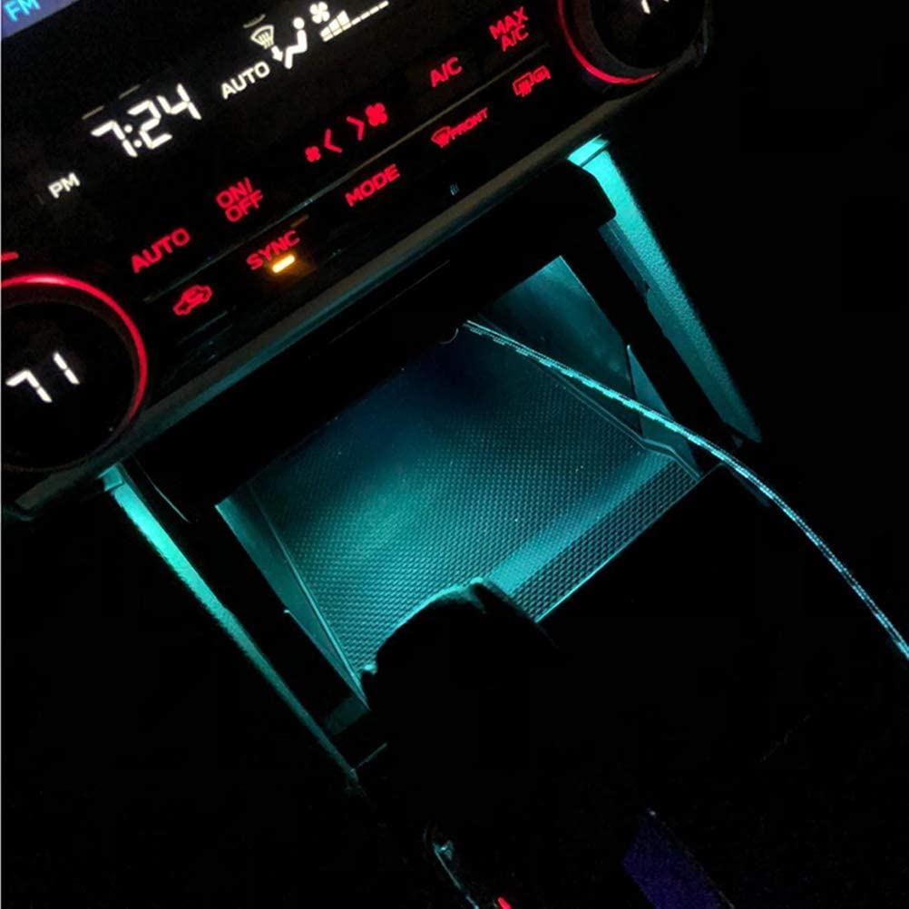 Ice Blue Sanpanie 6 Packs USB Interior Ambient Atmosphere Lamp Lights Universal Mini Led Lights for Car Trunk Ambient Atmosphere
