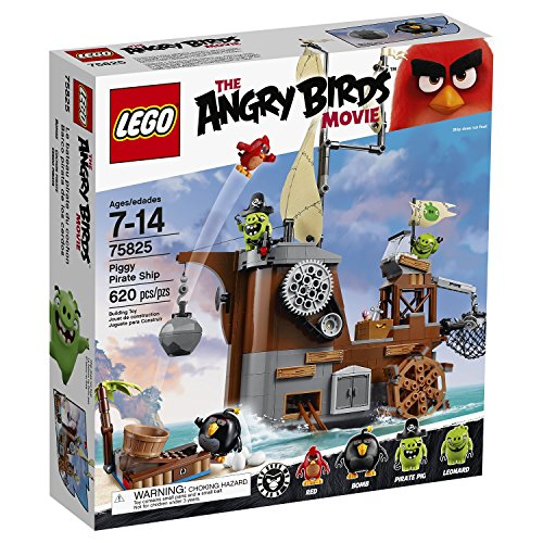 LEGO- Angry Birds Nave dei Pirati dei Maiali, Gioco di Costruzioni, 75825
