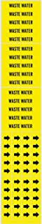 "Brady 7302-3C Self-Sticking Vinyl Pipe Marker, B-946, 2 1/4"" Height X 2 3/4"" Width, Black On Yellow Pressure Sensitive Vin..."