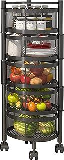 WSCC étagère D'organisateur De Cuisine, Rack De Légumes Rotatif à 360 Degrés, Plancher De Cuisine Multicouche Multicouche ...