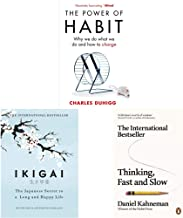 The Power of Habit + Ikigai + Thinking Fast and Slow(Set of 3 Books)