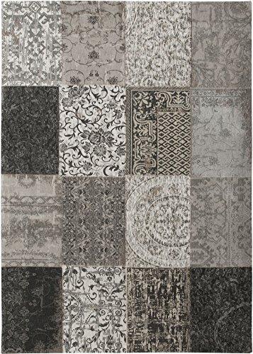 Tapis Louis De Poortere VINTAGE MULTI 8101 BLACK AND WHITE, 80x150cm