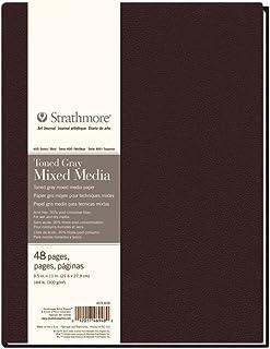 "Strathmore (469-408) 400 Series Hardbound Toned Gray Mixed Media Art Journal, 8.5""x11"", 24 Sheets"