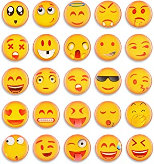 25pcs Emoji Fridge Magnets Refrigerator Magnets Small Funny Magnets for Kitchen School Classroom Whiteboard Cute Decorative Magnet Gifts for Kids Party Favors(25pcs-Emoji)