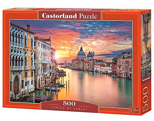 Castorland B-52479 Puzzle Venice at Sunset, 500 Teile, bunt