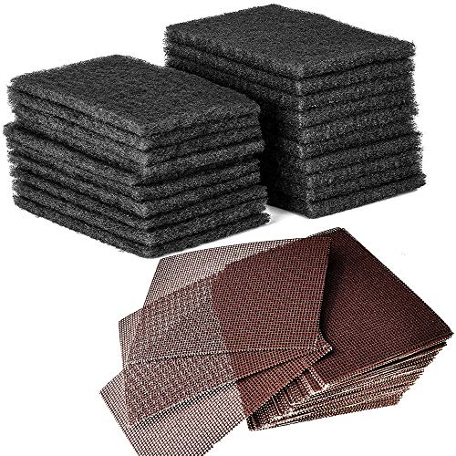 CUSINIUM 20-Pack Griddle Cleaning Pads + 40-Pack Grill Screens - Griddle...