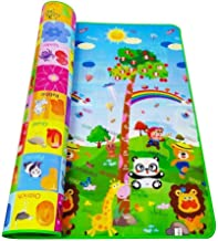 ZOSOE Double Sided Water Proof Baby Mat Carpet Baby Crawl Play Mat Kids Infant Crawling Play Mat Carpet Baby Gym Water Resistant Baby Play & Crawl Mat Playmat for Babies (6 Feet X 4 Feet)