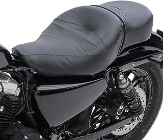 Monosella con molle e Piastra di base per motos custom Craftride SG14 nero