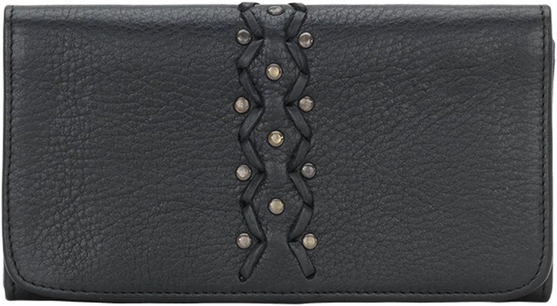 TrueLu Leather Crossbody Shoulder Bag w Purse Light Key Chain