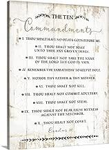 The Ten Commandments Canvas Wall Art Print, 12