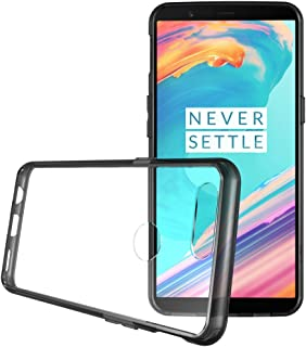 OnePlus 5T Case - TUDIA Scratch Resistant LUCION Lightweight Hybrid Clear Acrylic Back Panel Protective Cover for The OnePlus 5T (2017 Version) (Smoke Frame)