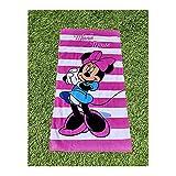 Toalla de Playa o baño Minnie Mouse, 100% Algodón, 70X140 cm, Producto Oficial