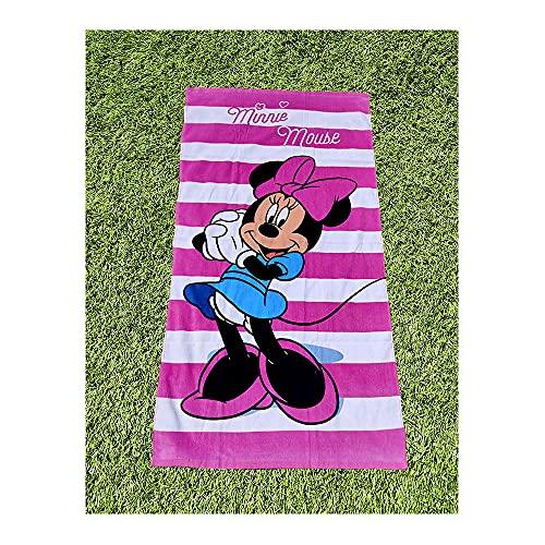 Telo mare o bagno Minnie Mouse, 100% cotone, 70 x 140 cm, prodotto ufficiale