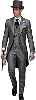 Groom Suit for Wedding Grey Silver Tuxedo 3 Pieces Tailored