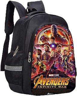 Avengers Endgame Mochila Casual Hermosa Impreso Escuela Primaria Nylon Mochila Escolar Estudiantes Niños Niñas Uso Diario Unisex (Color : A03, Size : 31 X 14 X 40cm)