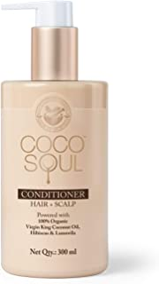 Coco Soul Ayurvedic & Coconut Conditioner - Silicone Free, Paraben Free, Sulphate Free, No Animal Testing, DEA free, Mineral Oil free