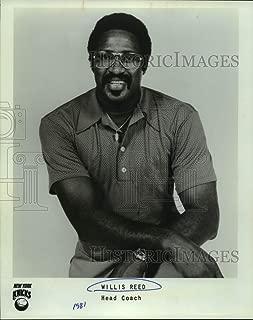 Historic Images - 1981 Press Photo Willis Reed, Head Coach, New York Knicks Basketball