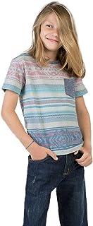 T-Shirt Com Bolso Estampada Infantil Masculino Khaki