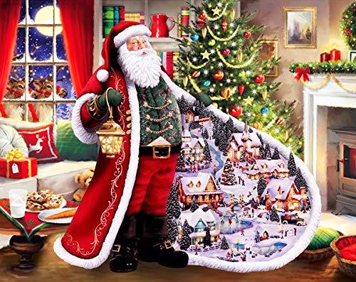 Christmas Diamond Painting Kits for Adults Santa Claus 5d Paint with Diamonds DIY Kits Christmas Tree Painting