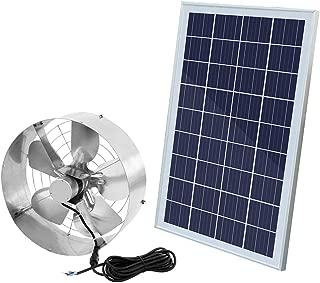 ECO LLC 3000 CFM Commercial Industrial Extractor Fan Ventilation Fan + 25W Solar Panel