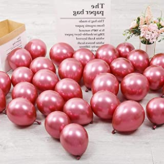 5 inch Hot Pink Chrome Balloons Quality Small Hot Pink Metallic Balloons Premium Latex Balloons Helium Balloons Party Deco...