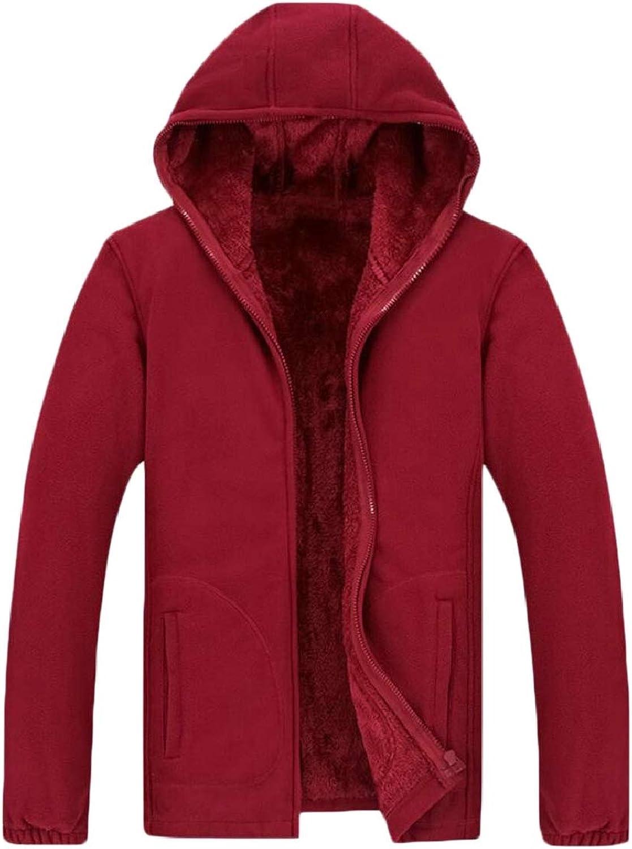2962225f2483 Tymhgt-CA Men's Fleece Plus Size Front-Zip Hoodies Outwear Outwear Outwear  Sweatshirt Jackets c6c46d