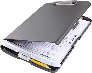 Homdolaser クリップボード A4 署名フォルダ クリップファイル 会議パッド 二つ折り 書類フォルダー 携帯便利 ペンホルダー 多機能 事務用品 ビジネス オフィス用品 防水ファイル保護 ブラック