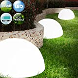 3x LED Solarleuchte Gartenbeleuchtung Lampe Leuchte Solar Akku betrieben Outdoor wiederaufladbarer Akku Wandmontage möglich Kabellos