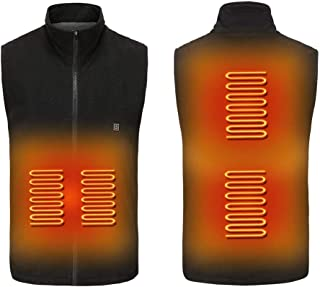 Electric Heated Clothes, Lightweight Heated Vest USB Rechargeable Heating Body Warmer Gilet with 3 Temperature Waist 30 S ...