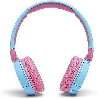 سماعات رأس بلوتوث لاسلكية بخاصية الغاء الضوضاء مع ميكروفون للاطفال من جيه بي ال Jr310 - تركواز وبينك