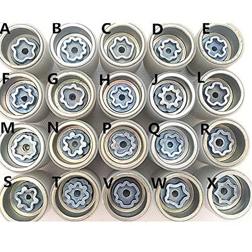 1PCS NoEnName_Null Fit for Audi A1 A5 A3 A4L A6L A7 Q3 Q5 A8 TT R8 Reifen Anti-Diebstahl-Schraube Zerlegen Werkzeug Key Sleeve Cost-Effective and Durable (Color Name : F)