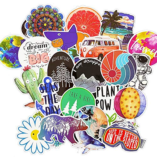 Funny Vinyl Car Stickers Pack Skateboard Snowboard Bicycle Luggage Motorcycle Helmet Decal Glass...