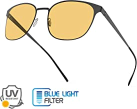 Blaulichtfilter Brille ComputerBrille Anti M/üdigkeit Anti-Blaulicht Retro Metall Frame Gaming Brille f/ür PC Damen Herren