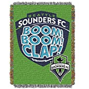 Size: 48 x 60 100% polyester Northwest nor-1mls051010014ret Seattle sounders FC MLS woven tapestry Throw blanket, 48 x 60 Seattle sounders FC MLS woven tapestry Throw blanket This loom woven triple layer tapestry Throw blanket is fringed on all 4 sid...
