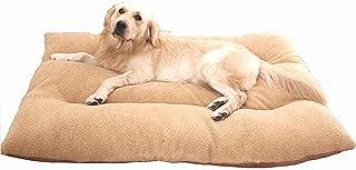 wan nyan paradise 犬 猫 等 ペット ぐっすり眠る ふんわり ベッド マット クッション (90×65cmサイズ 推奨体重35kg以下, 茶)