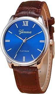 Hotsale! Wensltd Unisex Retro Design Leather Band Analog Alloy Quartz Wrist Watch (Brown)