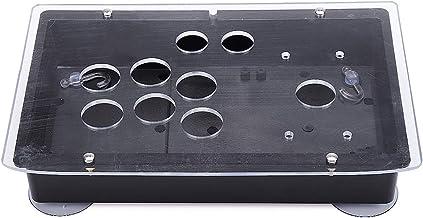C-FUNN DIY Handle Arcade Joystick Juego Controlador Panel Acrílico Y Caso Reemplazo Panel Transparente