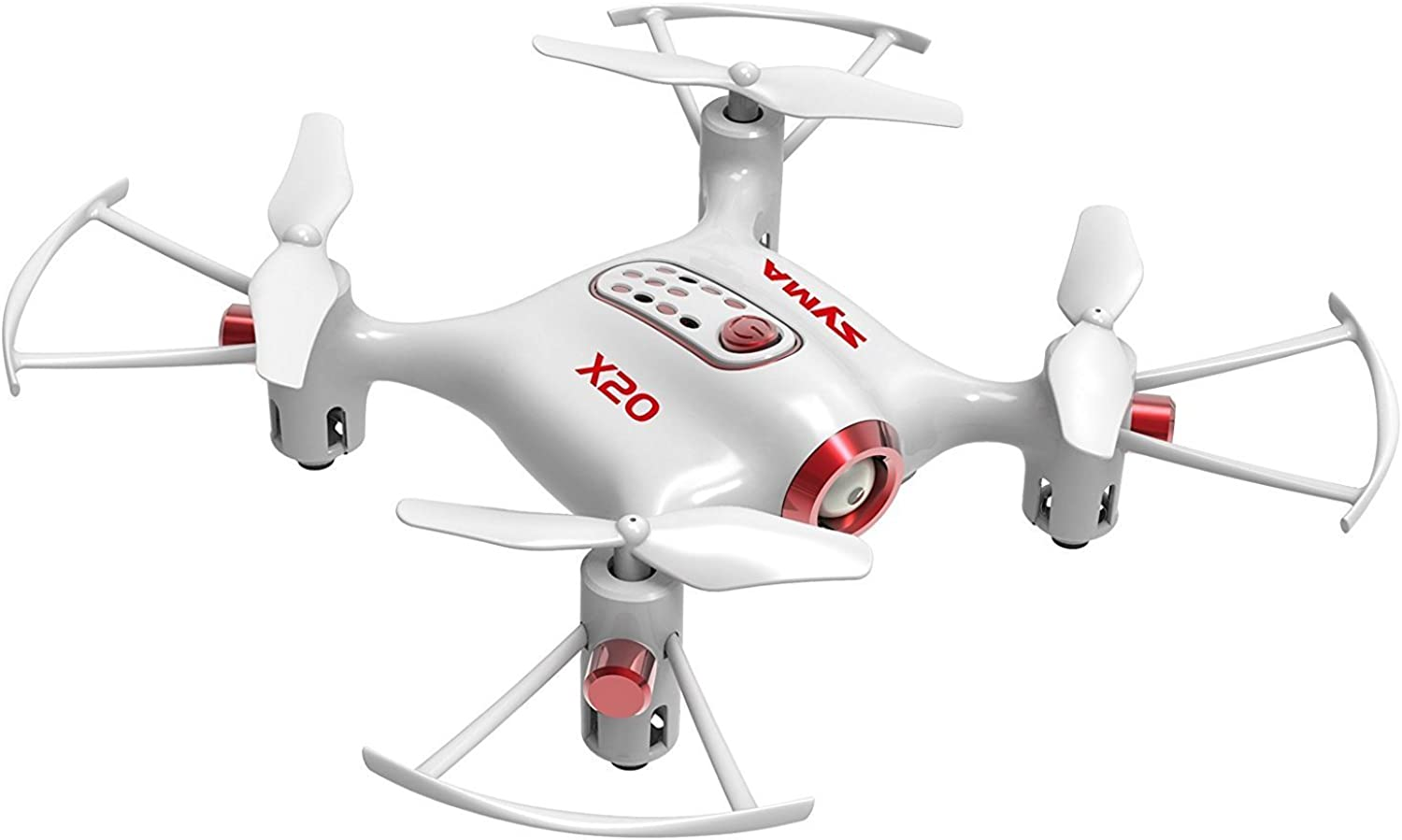 Cheerwing Syma X20 Pocket Drone 2.4Ghz Remote Control Mini RC Quadcopter with Altitude Hold and One Key TakeOff   Landing White