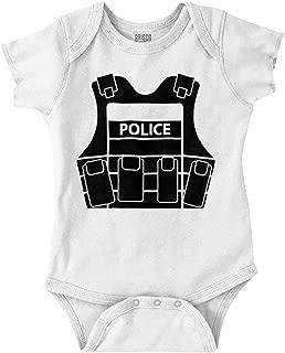 Police Vest Newborn Child Police Officers Romper Bodysuit