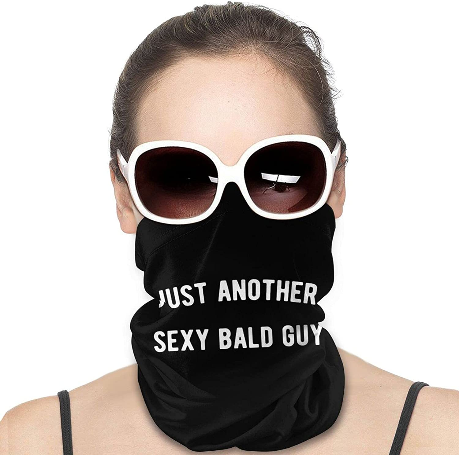 Just Another Sexy Bald Guy Round Neck Gaiter Bandnas Face Cover Uv Protection Prevent bask in Ice Scarf Headbands Perfect for Motorcycle Cycling Running Festival Raves Outdoors