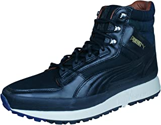 PUMA Montapon Luxe Mens Leather Trainers/Hi Tops - Black